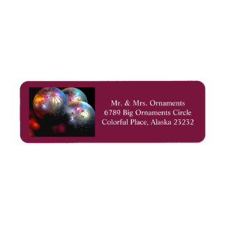 Christmas ornaments label 7 2016 return address label