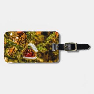 Christmas ornaments luggage tag