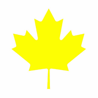 Christmas Ornaments Maple Yellow Acrylic Cut Outs