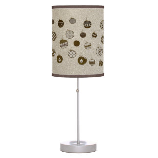 Christmas Ornaments Modern Golden Hand Drawn Chic Table Lamp