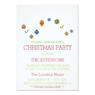 Christmas Ornaments Party Invitation