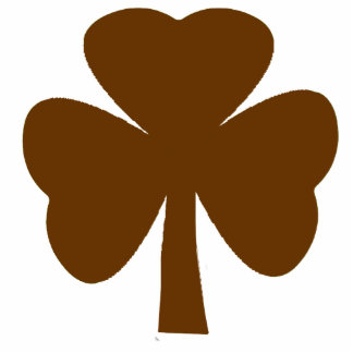 Christmas Ornaments Shamrock Brown Acrylic Cut Outs