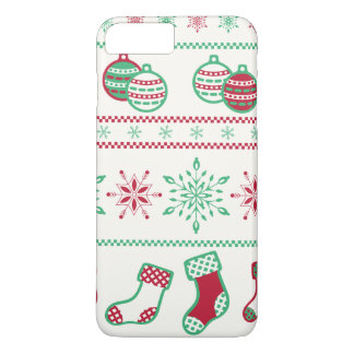 Christmas Ornaments, Snowflakes, and Stockings iPhone 8 Plus/7 Plus Case