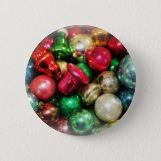 christmas ornaments vintage still life 2 inch round button