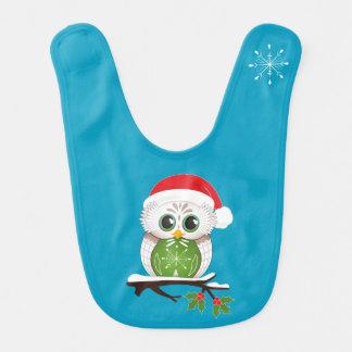 Christmas Owl Baby Bib