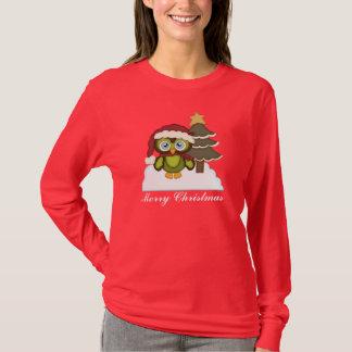 Christmas Owl Hanes Nano long sleeve t-shirt