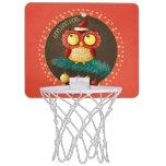 Christmas Owl Mini Basketball Hoops