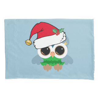 Christmas Owl Pillowcase