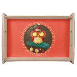 Christmas Owl Service Trays