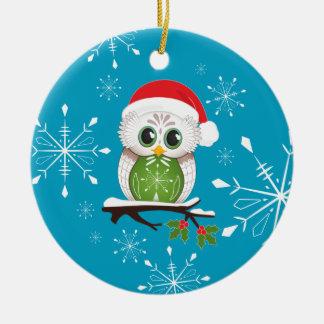Christmas Owl Snowflake ornament