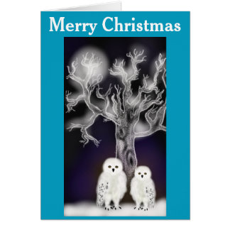 Christmas Owls Card
