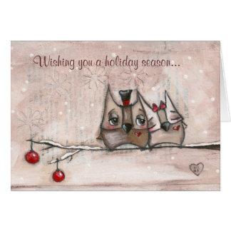 Christmas Owls - Christmas Card