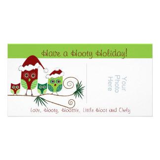 Christmas Owls Customizable Photo Card