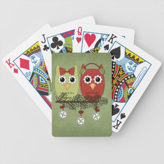 Christmas Owls Holiday Playing Cards