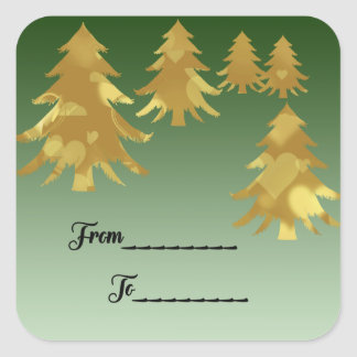 Christmas package sticker From and To label