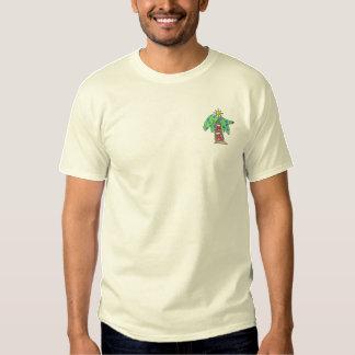 Christmas Palm Tree Embroidered T-Shirt