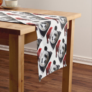 Christmas Panda Bear Short Table Runner