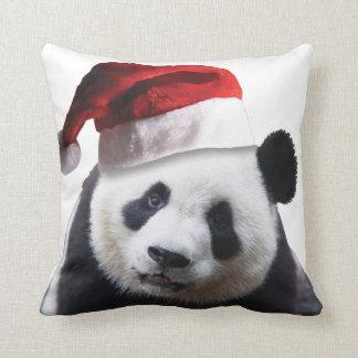 Christmas Panda Bear Throw Pillow