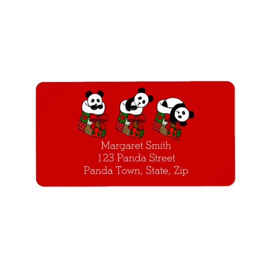 Christmas Panda Cartoon Stocking