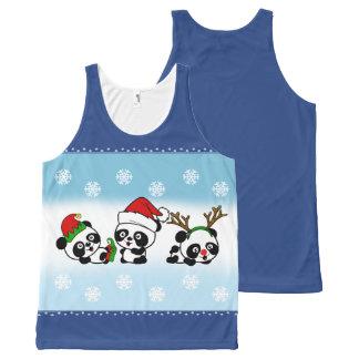 Christmas Pandas All-Over-Print Tank Top