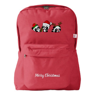 Christmas Pandas Backpack