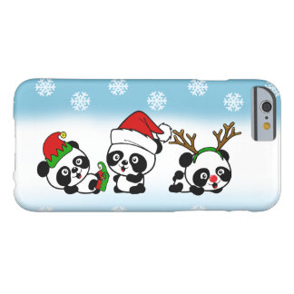 Christmas Pandas Barely There iPhone 6 Case