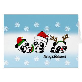 Christmas Pandas Card