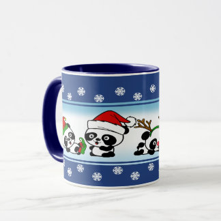 Christmas Pandas Mug