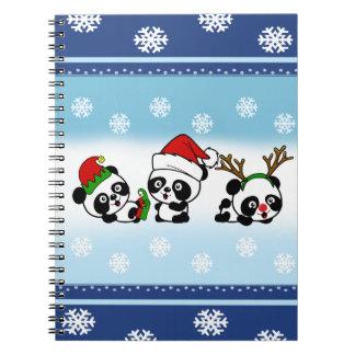 Christmas Pandas Notebooks