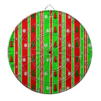 Christmas Paper Pattern Dartboard