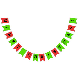 Christmas Party Bunting Merry Christmas Bunting Flags