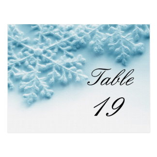 Christmas Party Event Table Number Postcard