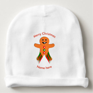 Christmas Party Gingerbread Man Baby Beanie Hat