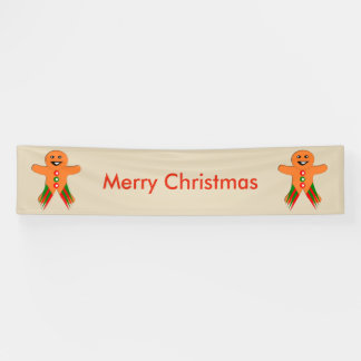 Christmas Party Gingerbread Man Banner