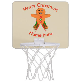 Christmas Party Gingerbread Man Basketball Hoop