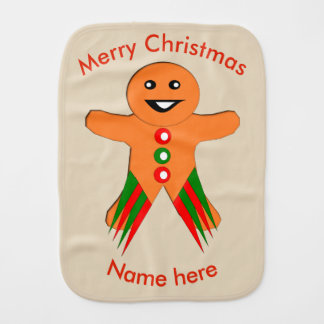 Christmas Party Gingerbread Man Burp Cloth