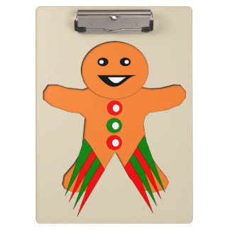 Christmas Party Gingerbread Man Clipboard