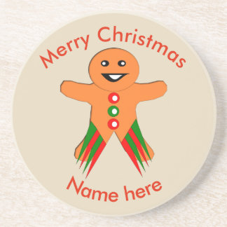 Christmas Party Gingerbread Man Coasters