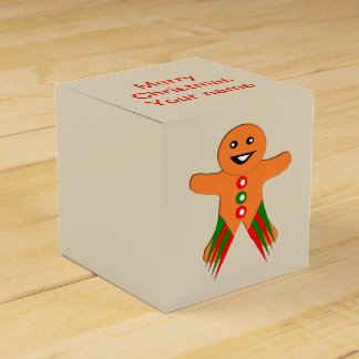 Christmas Party Gingerbread Man Custom Favor Box