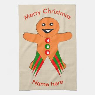 Christmas Party Gingerbread Man Custom Towel