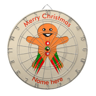 Christmas Party Gingerbread Man Dart Board