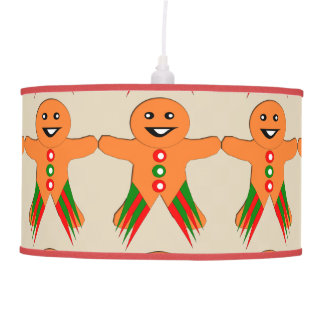Christmas Party Gingerbread Man Lamp