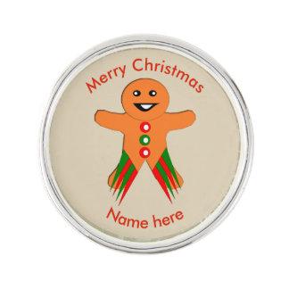 Christmas Party Gingerbread Man Lapel Pin