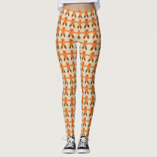 Christmas Party Gingerbread Man Leggings