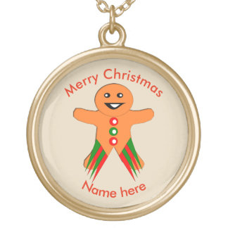 Christmas Party Gingerbread Man Necklace