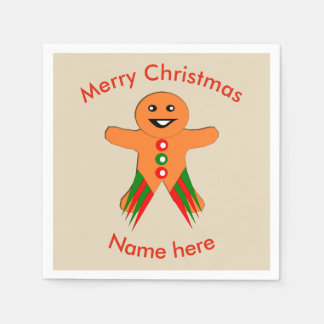 Christmas Party Gingerbread Man Paper Napkins