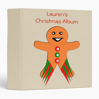 Christmas Party Gingerbread Man Photograph Album Binder