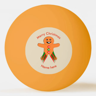 Christmas Party Gingerbread Man Ping Pong Ball