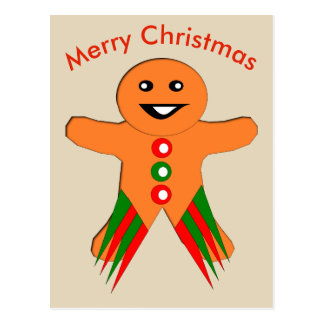 Christmas Party Gingerbread Man Postcard