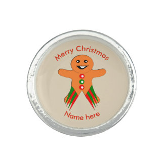 Christmas Party Gingerbread Man Ring